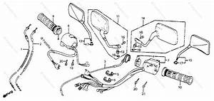 Honda Motorcycle 1985 Oem Parts Diagram For Control Levers    Switches    Cables