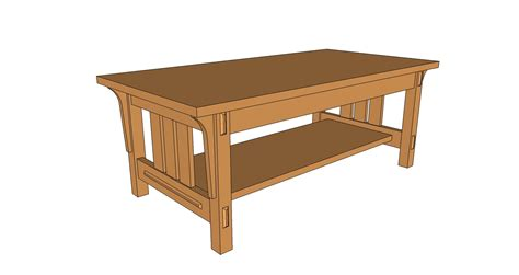 Arts And Crafts Style Coffee Table  Pdf Plan  The Wooden