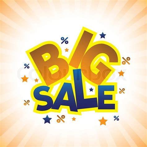 Concept vector graphic- banner announcing big sale ...