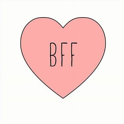 Bff Heart Friend Coeur Redbubble Transparent Features