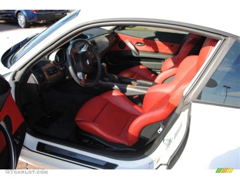Dream Red Interior 2007 Bmw Z4 3.0si Coupe Photo #38382298