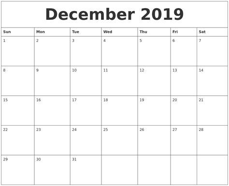 december calendar calendar