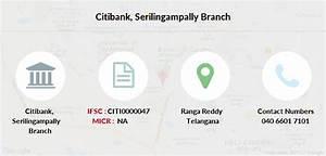 Citibank Serilingampally Ifsc Code Citi0000047