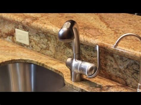 how to tighten kitchen sink faucet how to tighten grohe ladylux pull out kitchen faucet quick fix youtube
