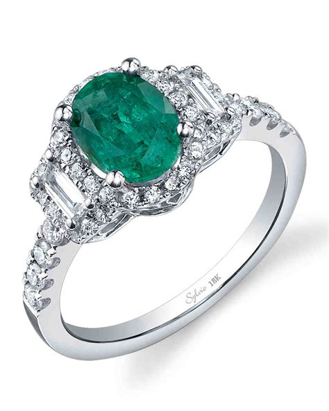emerald engagement rings for a one of a kind martha stewart weddings