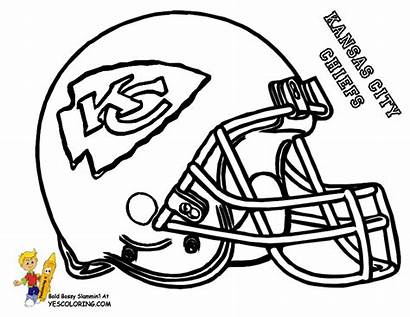 Coloring Football Pages Rugby Helmet Chiefs Kansas
