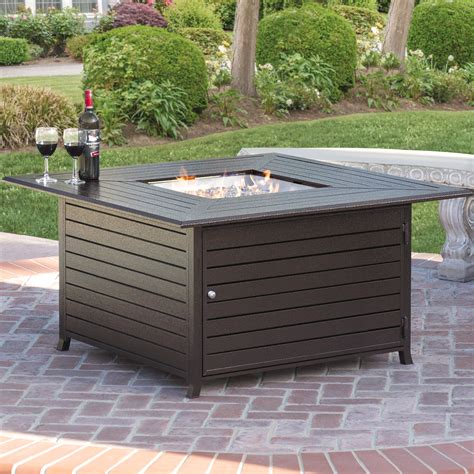 Gas Pit Table With Lid by Best Choice Products Extruded Aluminum Gas Outdoor