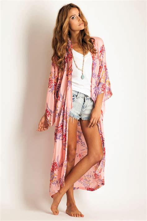 Arnhem Clothing u0026#39;Bowerbirdu0026#39; kimono in pink passion. Via Soleilblue. So pretty!   fashion that ...