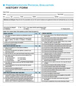 Physical Exam Checklist Template