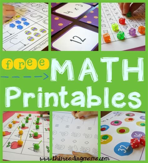 free k 2 math activities this reading 758   FREE Math Printables and Activities from This Reading Mama