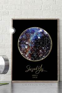 Custom Star Map 8x10 Inch Maple Wood Print Of Our 2 To