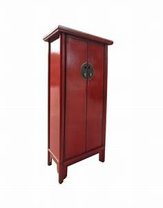 Armoire Chinoise Rouge H155cm