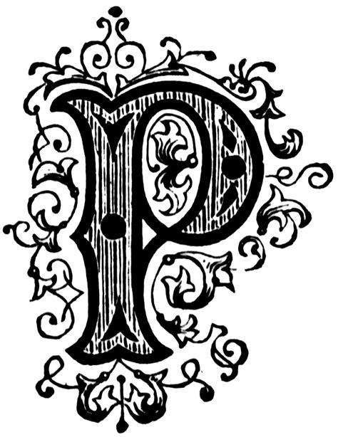 p ornamental letter clipart