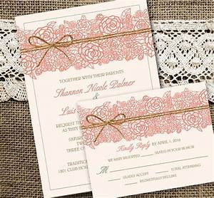 wedding invitations invites rustic country lace burlap With burgundy beach wedding invitations