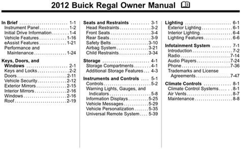 service repair manual free download 2012 buick regal head up display buick 2012 regal operators owners user guide manual download manu