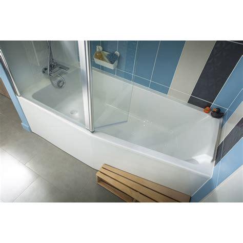 baignoire l 170x l 85 cm jacob delafon sofa bain et vidage 224 gauche leroy merlin