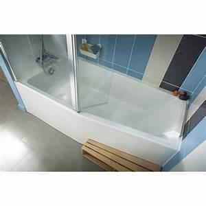 baignoire l160x l85 cm jacob delafon sofa bain et With baignoire douche avec porte leroy merlin