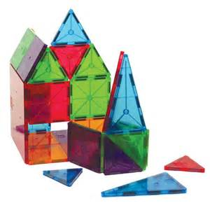 magna tiles 174 100 piece clear colors set by valtech company