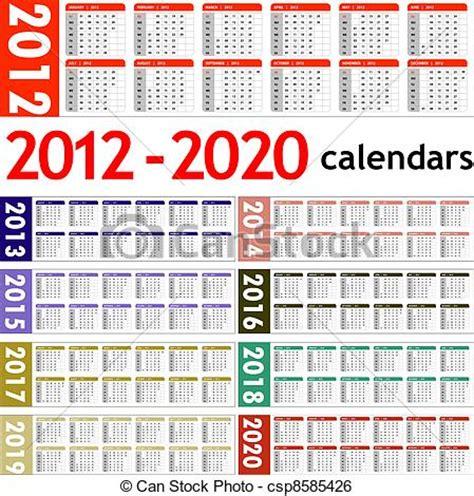 clip art vektor von kalender jahr neu neu jahr