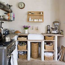 Small, Rustic Kitchen  My Home