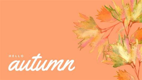 Girly Simple Fall Backgrounds by Customize 518 Desktop Wallpaper Templates Canva