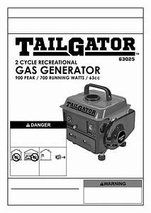 Tailgator 63025 Owners Manual And Safety Instructions