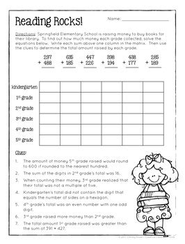 logic puzzle for grade 2 math logic puzzles 3rd grade enrichment by howe tpt