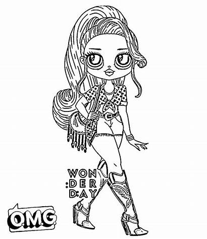 Coloring Omg Pages Doll Lol Dolls