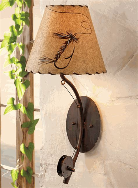 fly rod wall lamp