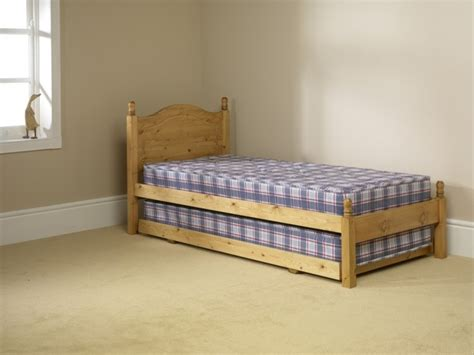 Small Single Bed by Friendship Mill 2ft6 Small Single Pine Wooden Guest Bed