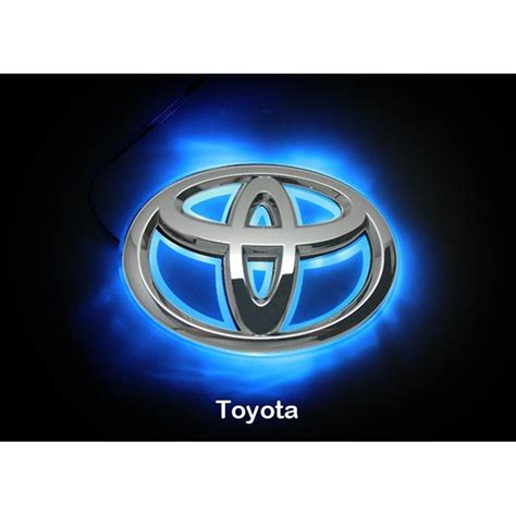 toyota corolla logo led car logo blue light for toyota 08camrys corolla head