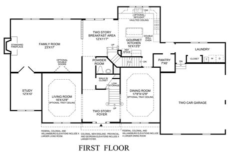 New England Home Floor Plans