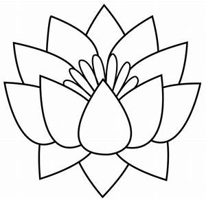 Flower black and white hawaiian flower clip art black and ...