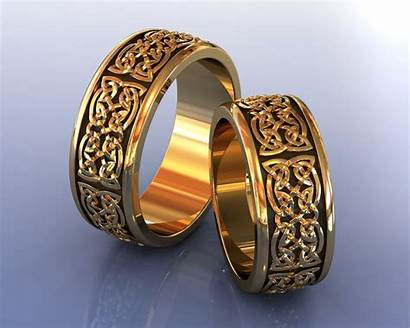 Rings Nordic Gold Celtic Knot 3d Jewelry