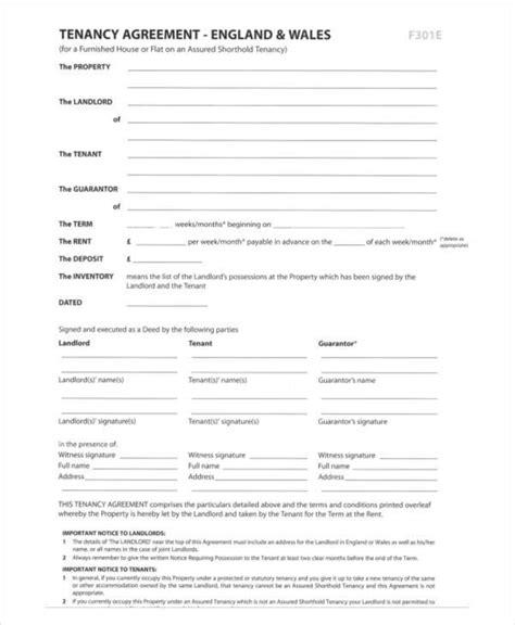 rental agreement format   word