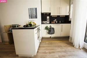 Avant apres optimiser l39espace dans un studio maison for Plan de travail maison 4 avant apras optimiser lespace dans un studio maison