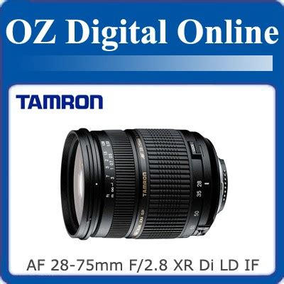 new tamron sp af 28 75mm f 2 8 xr di ld if macro for canon 1 year au warranty 4960371004297 ebay