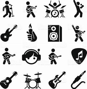 Rock Music Icons Black Series Stock Vector Art & More ...