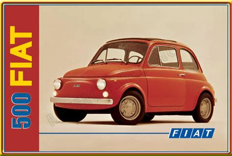 Fiat Sign by Signage Fiat 500 Classic Metal Sign Was Listed For