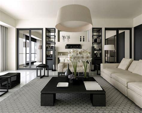 classic  chic black  white living room decor
