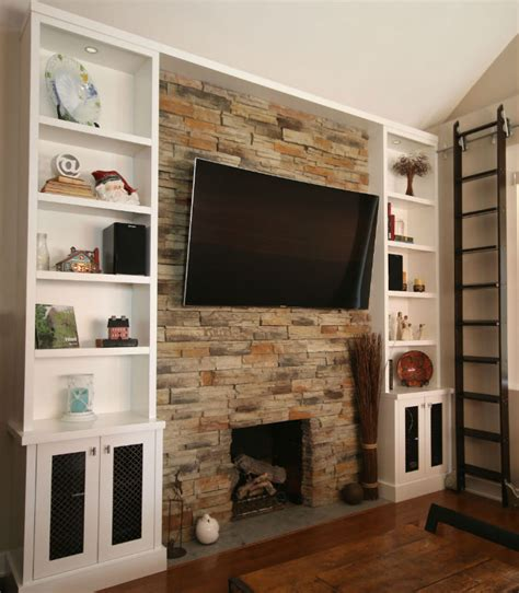 toronto fireplace wallunit tv renovation