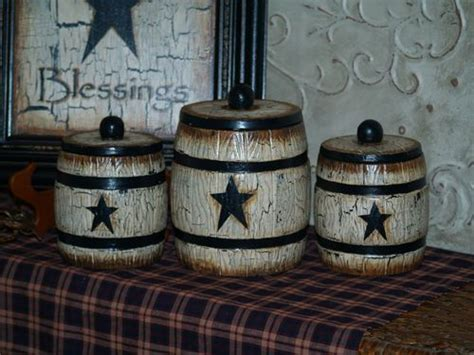 Primitive Kitchen Canister Sets by Country Farm House Cowboy Primitive Canister Set