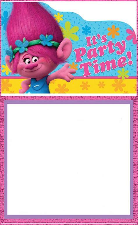 Trolls Invitation Templates Free by Free Printable Trolls Invitation Card Invitations Online
