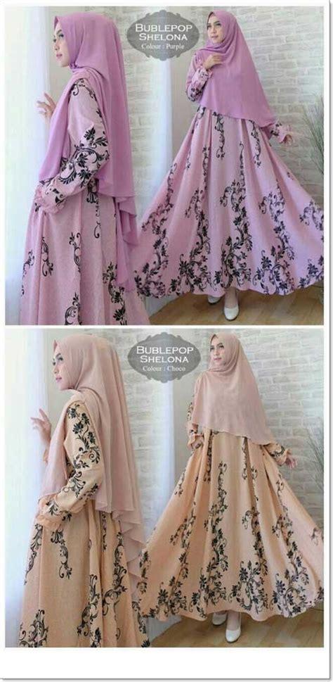 Jual Gamis Muslimah Cantik Bahan Bubblepop