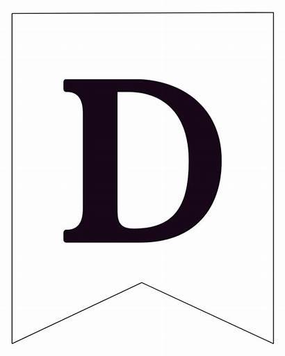 Banner Letters Printable Letter Pennant
