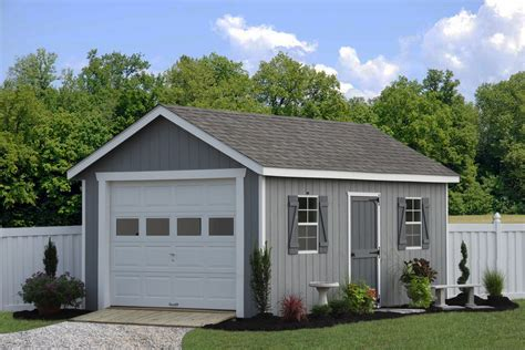 single car garage prefab garage packages from sheds unlimited in lancaster