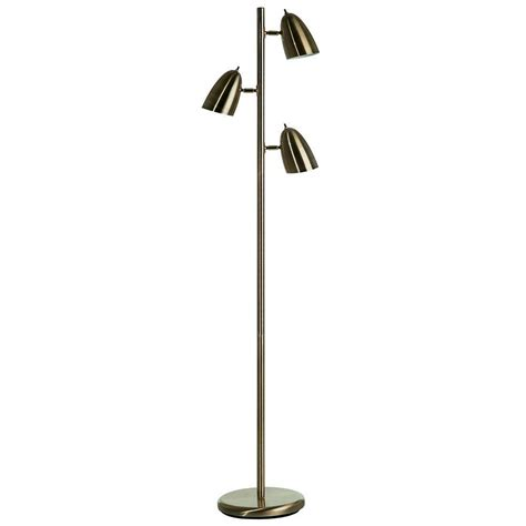 illumine 59 in antique brass floor l with clear glass