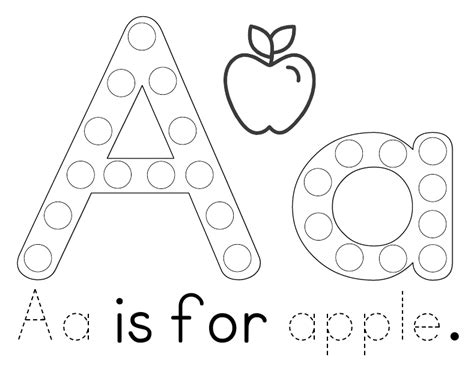 a for home free printable aa is for apple tot