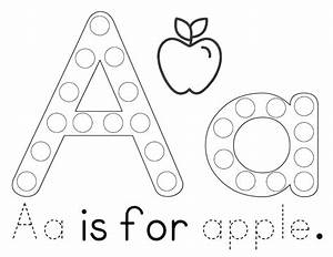 A heart for home free printable aa is for apple tot for Dots alphabet letter