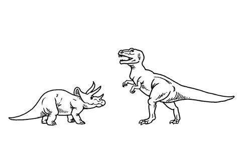 malvorlage ticeratops und  rex ausmalbild